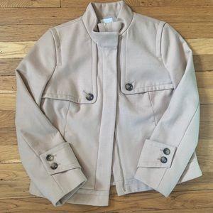 Chico's sz 1 beige jacket gorgeous